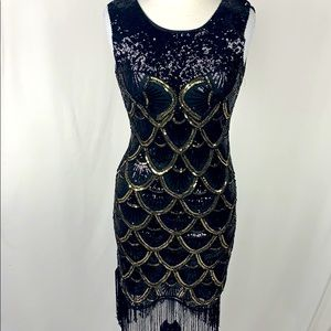 Sequins Flapper Gatsby Costume Dress Deco Small